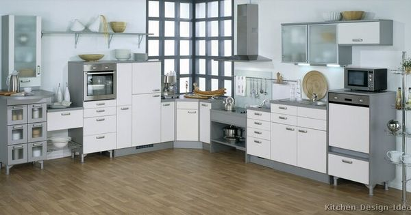 Kitchen idea of the day modern white kitchens by alno for Alno kitchen cabinets