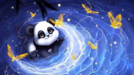 Backgrounds For Gt Cute Panda Desktop Wallpaper Panda Art Cute Panda Cute Animal Drawings