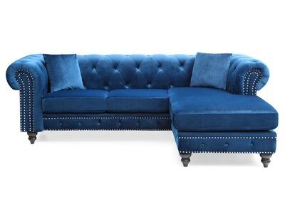 Rosdorf Park Jeanette 98 Reversible Sectional In 2020 Upholstery Toss Pillows Throw Pillows