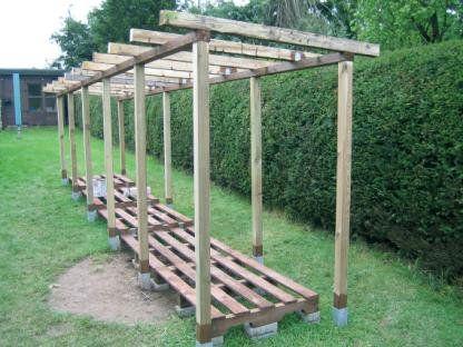 Holzunterstand Bauanleitung Zum Selber Bauen Holzunterstand Garten Grundriss Haus Und Garten