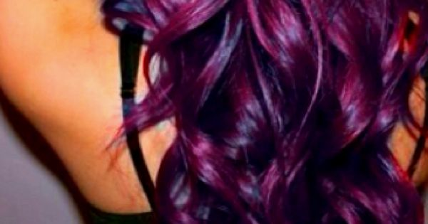 Eggplant Purple Hair Color and Style!!! LOVE IT!!!