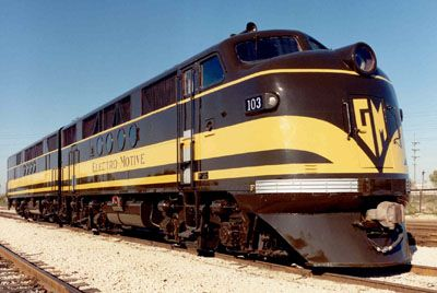 emd photo from the what s in those covered wagons slide lecture program used with permission train pictures pinterest