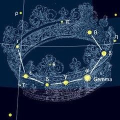 Corona Borealis Constellation And Myth Celestial Map Constellations Celtic Goddess