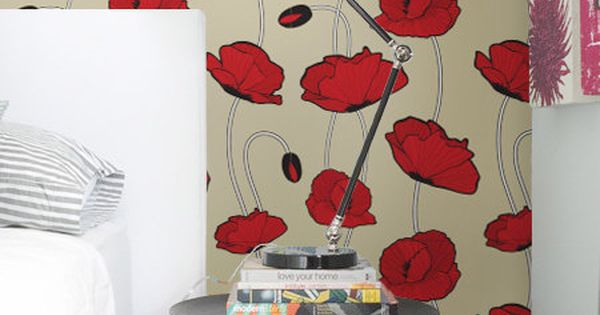 Poppy Wallpaper Home Interior Poppy Wallpaper Home Interior ~ Crowdbuild For .