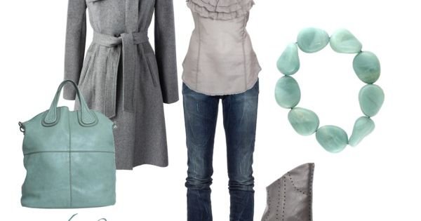 I love these Grey boots and the color mint. Want.