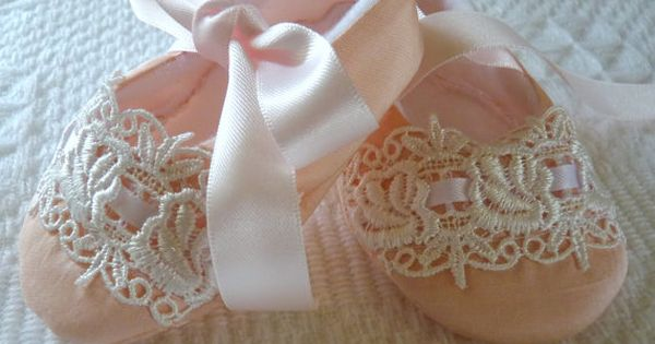 Pink Silk Dupioni Olivia Rose Baby Shoes by cottagecloset on Etsy, $26.00