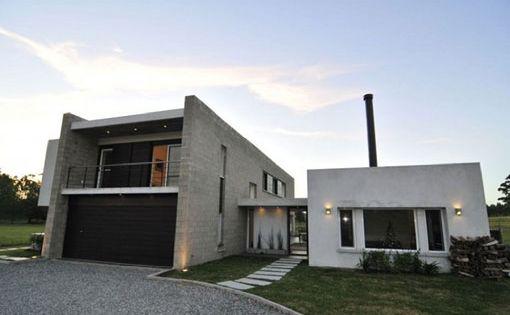 Casa construida con bloques ladrillos de cemento - Ladrillos de hormigon ...