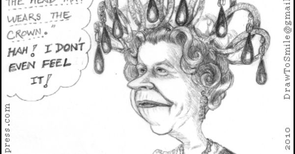 Caricature Cartoon Queen Elizabeth Ii The Reigning British Monarch And Her Crown Queen Elizabeth Caricature Queen Elizabeth Ii The crown's third season finds queen elizabeth and prince philip's marriage stronger than ever after two seasons of turmoil. caricature cartoon queen elizabeth ii