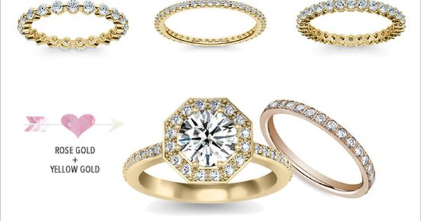 mismatched wedding ring sets not these but the same concept. Tho engagement