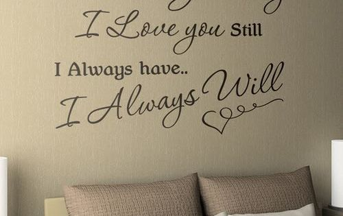 Cute quote to put on the bedroom wall