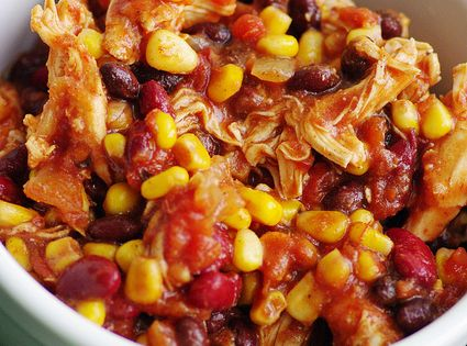 Crock Pot Chicken Taco Chili Gina's Weight Watcher Recipes Servings: 10 •