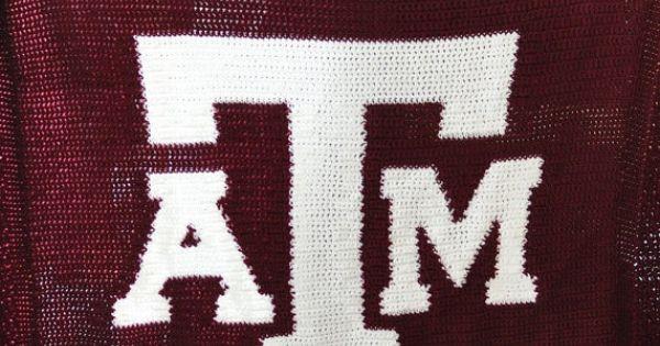 Texas A Amp M Crochet Afghan Pattern Etsy 7 00 Crocheting