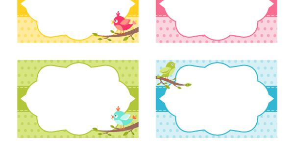 free printable bird name tags  the template can also be