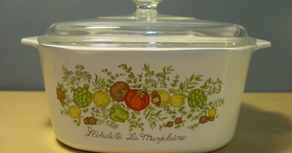 1970s Corning Ware Casserole Dish Spice Of Life Vegetable