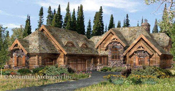 Log cabin plans precisioncraft log homes timber frame for Luxury log home plans with pictures