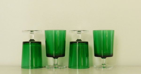 Minka Lavery 4 Light Chrome Bath Vanity Light 5724 77: Vintage Water Wine Goblets Emerald Green Glasses Made In