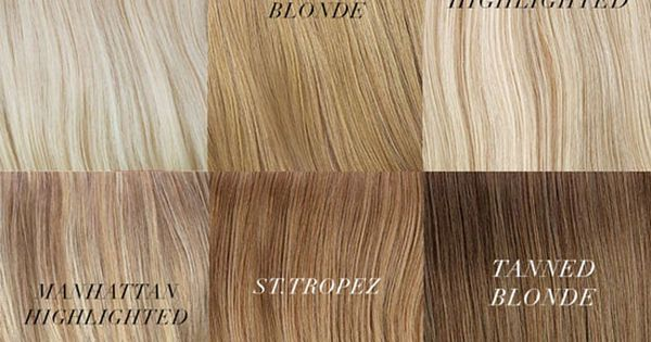 Different Shades Of Blonde Hair Chart Hair Colors