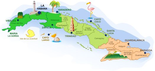 Holguin Cuba Carte Brisas Guardalavaca.Cuba Travel Maps Com Search Our Cuba Maps Guide Map And