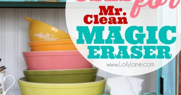 how to use mr clean magic eraser