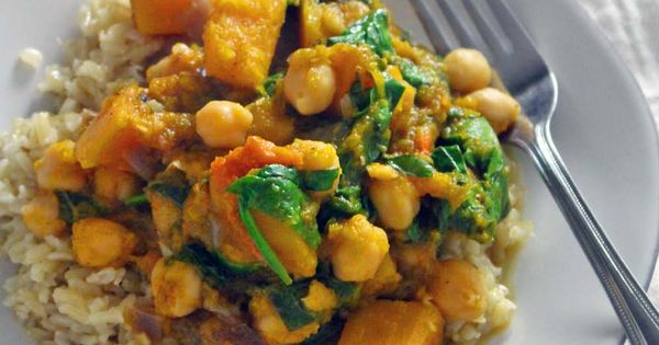 Spicy Moroccan Butternut Squash, Chickpea, and Spinach Stew | Recipe ...