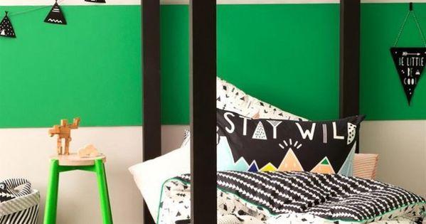 Lit cabane dans une chambre d 39 enfants couette imprim e for Cabane dans une chambre