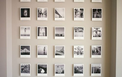 picture frame wall ideas polaroid travel photo wall for the home 4185