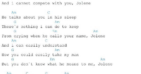 jolene ukulele chords » Music Sheets, Chords, Tablature and Song ...