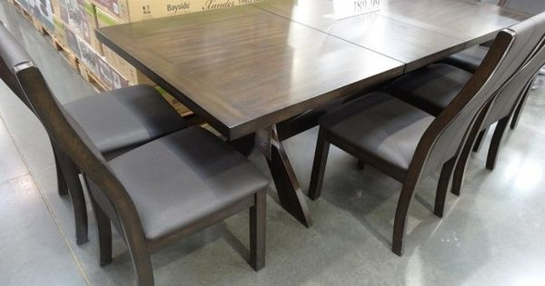 Bayside Square To Round Dining Table: Bayside Furnishings Xander 7-Piece Dining Set Costco 6