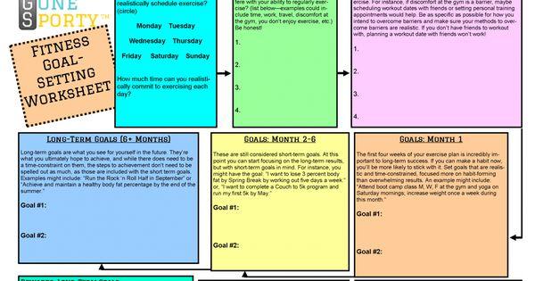 fitness goal setting worksheet Termolak – Fitness Goals Worksheet