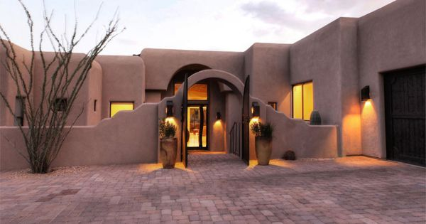 Carefree arizona homes pueblo mission style homes for Adobe construction pueblo co