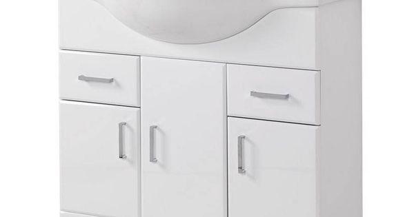 Sienna 85 vanity unit basin victoria plumb bathrooms for Bathroom cabinets victoria plumb