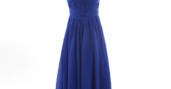 Strapless nice knotted top chiffon dress for bridesmaid dresses