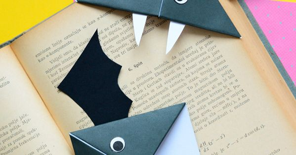 diy bat corner bookmarks diy bat corner bookmarks crafts marcadores 4226