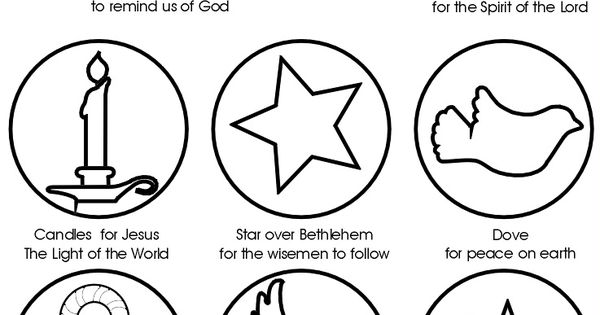 Religious Advent Calendar Ideas : Christmas symbols with meaning ornaments