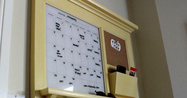 Kitchen Mail Family Organizer Monthly Calendar Dry Erase