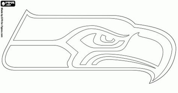 Seahawks outline | Seattle seahawks logo, Nfl logo, Seattle ...
