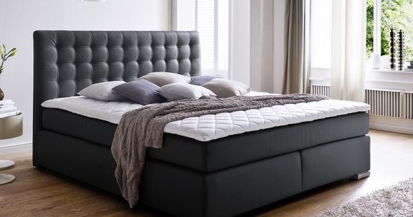 boxspringbett hotelbett premium isa schwarz 3 groessen. Black Bedroom Furniture Sets. Home Design Ideas