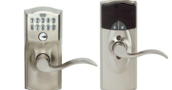 Buy Schlage Link Wireless Keypad Entry Lever Add On Lock Satin Nickel Schlage Schlage Locks Home Hardware