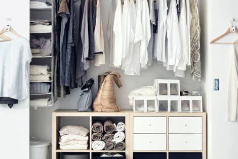 Cr er son dressing avec un petit budget dressing room pinterest organis - Ikea creer son dressing ...