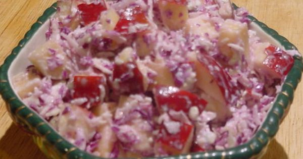Apple slaw, Blue cheese and Fruit salads on Pinterest