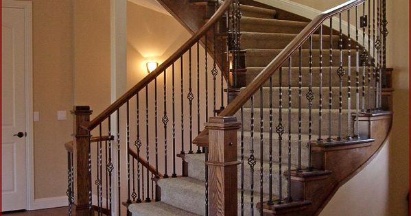 Stair Railings Denver Iron Balusters Curved Handrail