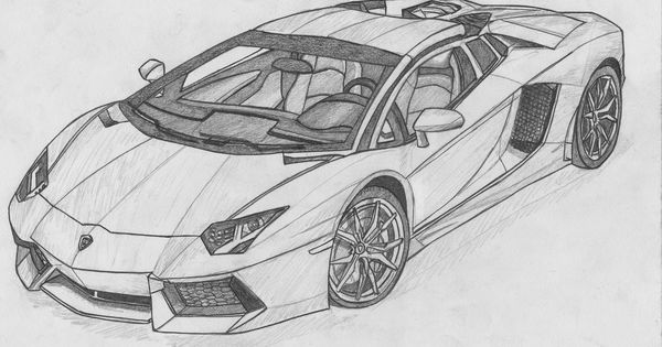 image for lamborghini aventador black and white drawing. Black Bedroom Furniture Sets. Home Design Ideas