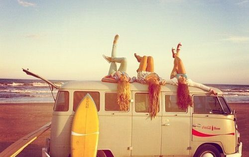 roadtrip to the beach with your best friends. The life.