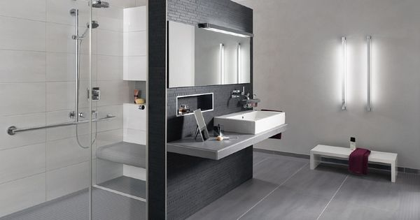 badezimmer fliesen grau wei beste haus und immobilien bad pinterest badezimmer fliesen. Black Bedroom Furniture Sets. Home Design Ideas