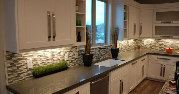 Best White Top And Gray Bottom Kitchen Cabinets Kitchen Tour 640 x 480