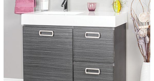 Meuble lavabo turenne 34 x 36 po gris fonc rona for Meuble avantage