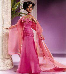 EVENING W ~ DRESS ~ BARBIE DOLL HARLEM THEATRE SELMA DUPAR JAMES SATIN LACE GOWN
