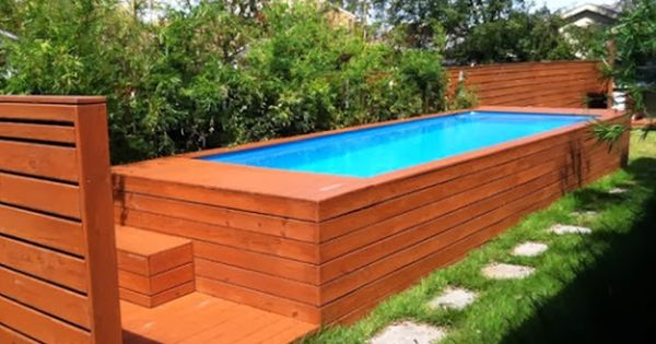 Backyard design with small swimming pool idea magnificent Cheap pool landscaping ideas