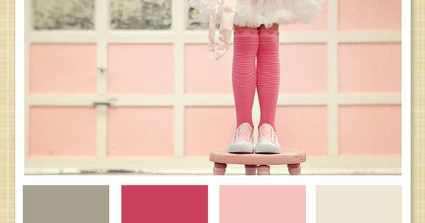 Super cute pink and gray for a little girl's room
