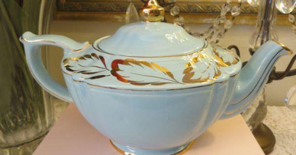 Vintage Sadler Baby Blue Gold Trim Tea Pot Made In England Tea Pots Tea How To Make